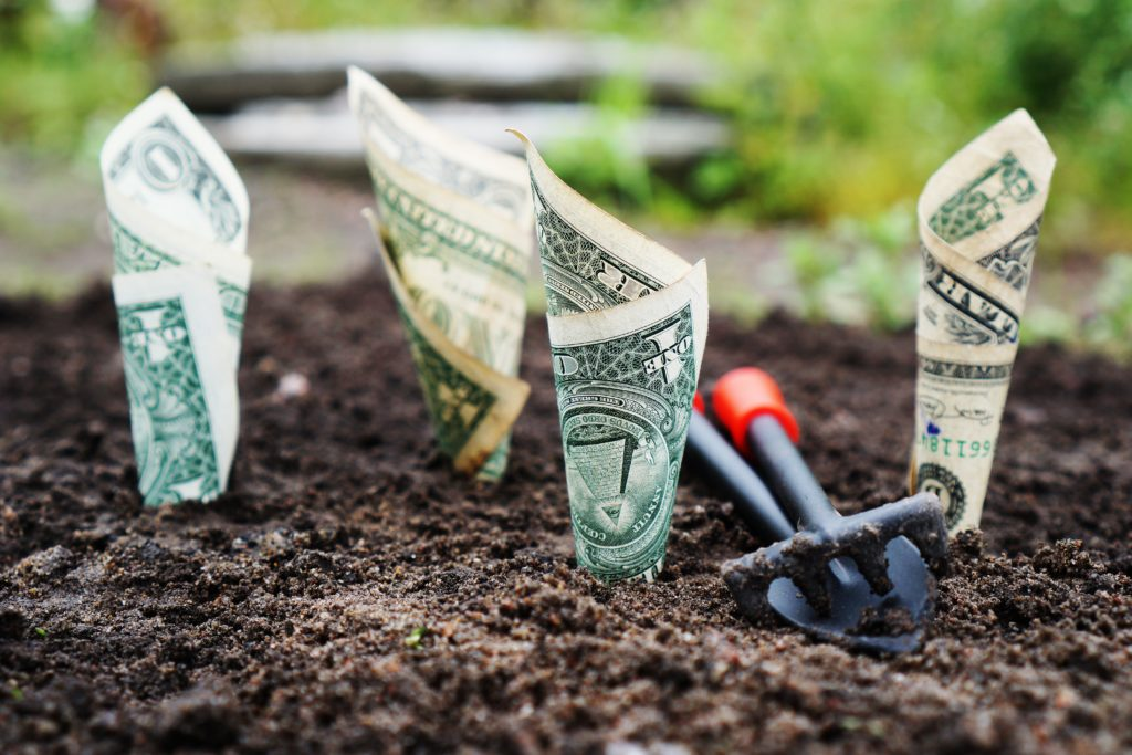 Bank notes in the ground - investing in energy, water, and food
