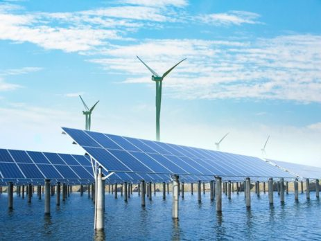 solar, wind and water power