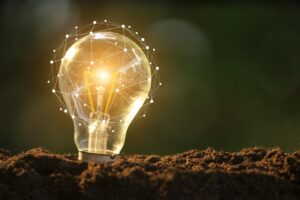 Light bulb glowing in soil as idea or energy concept | Forbes