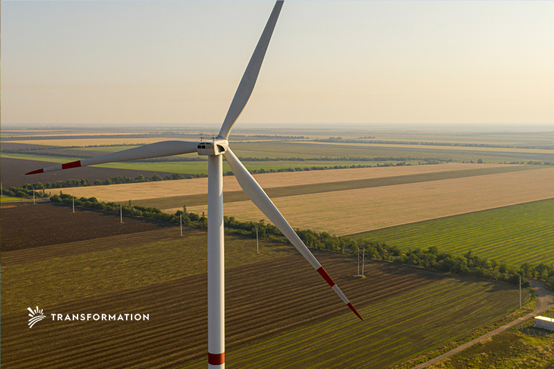 Wind Turbine in an Agriculture Field | Transformation