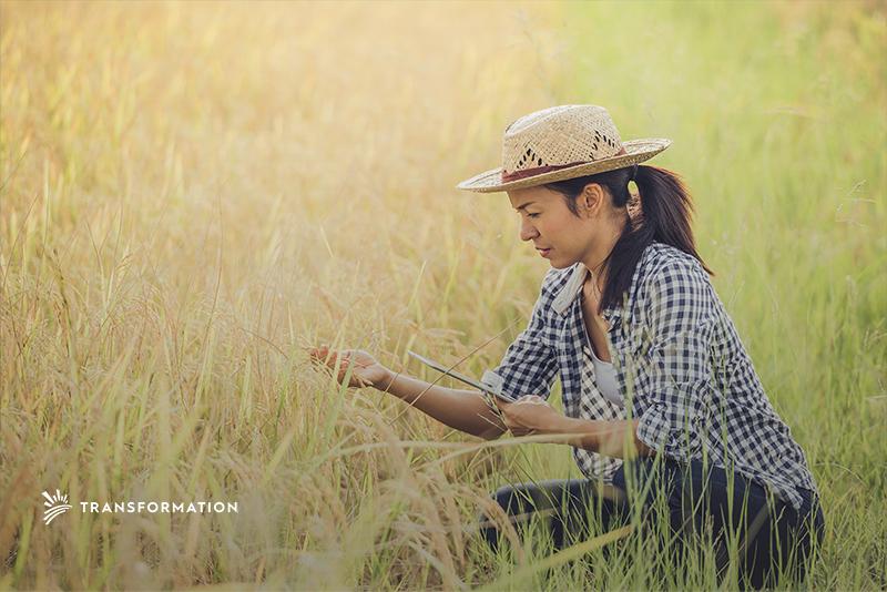 female smallholder farmer